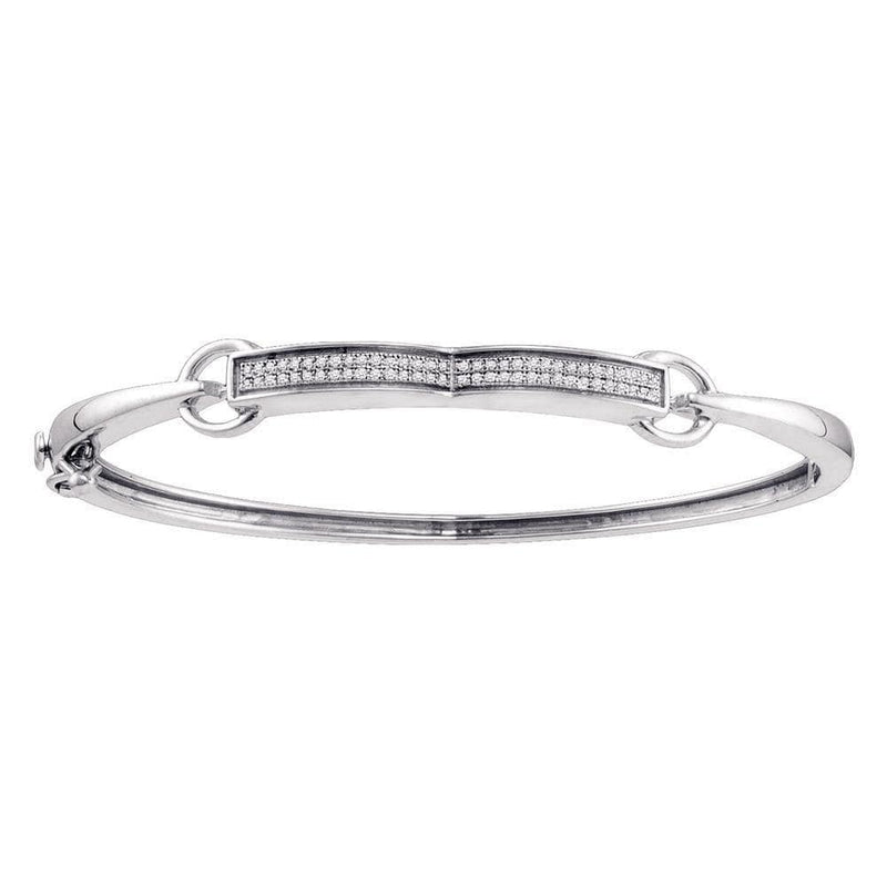 Sterling Silver Diamond Bangle Bracelet