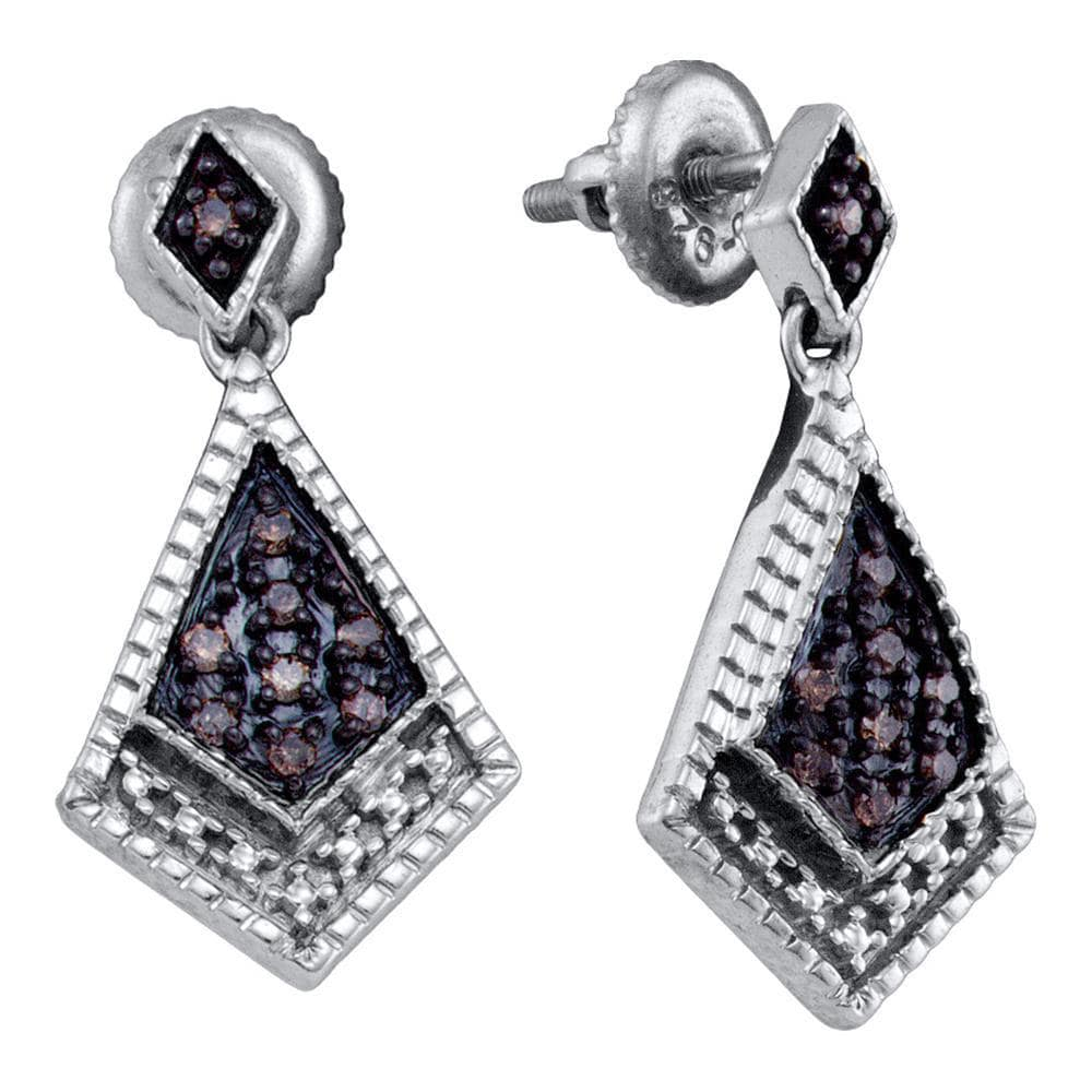 Sterling Silver Diamond Dangle Earrings