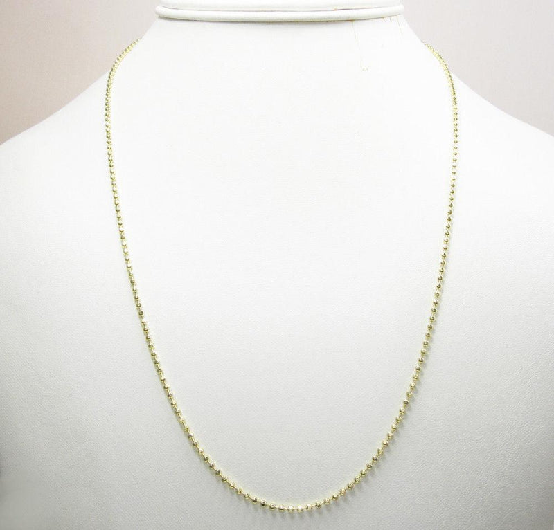 Gold dog tag Chain Necklace