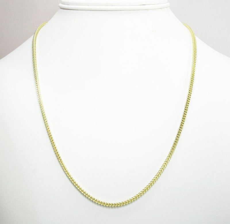 10K Yellow Gold 2MM Hollow Franco Chain, Chain, JJ-AG, Jawa Jewelers