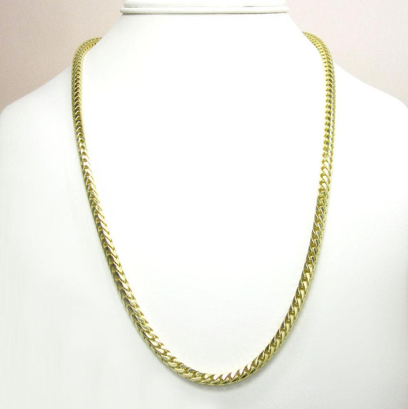 14K Yellow Gold 7MM Solid Franco Chain, Chain, JJ-AG, Jawa Jewelers