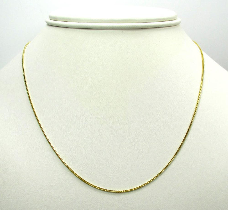 18 inch Yellow Gold Franco chain