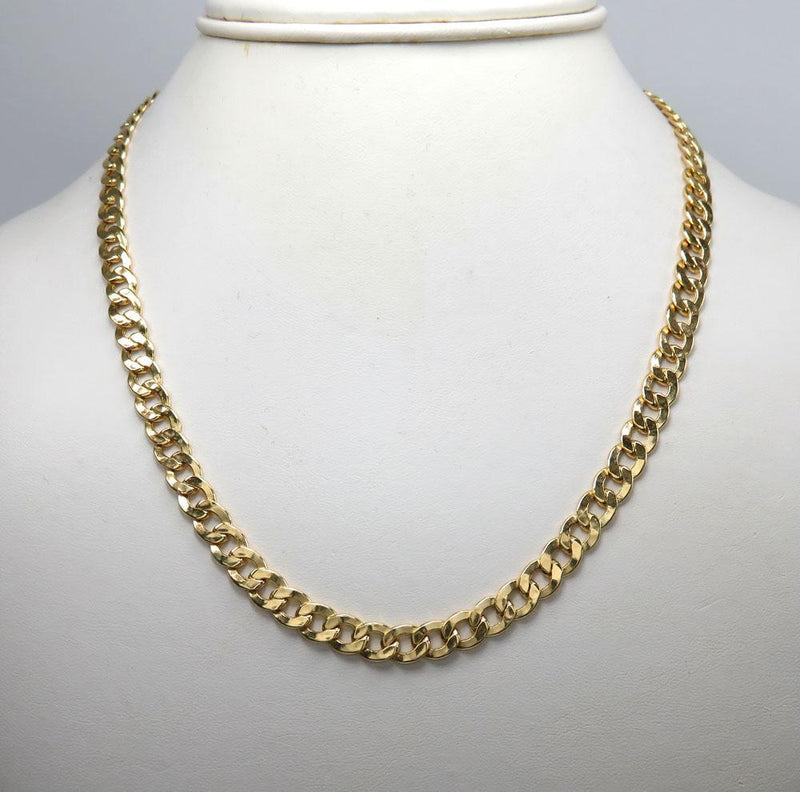 5.5MM 10K Yellow Gold Cuban Link Chain Necklace, Chain, Jawa Jewelers, Jawa Jewelers
