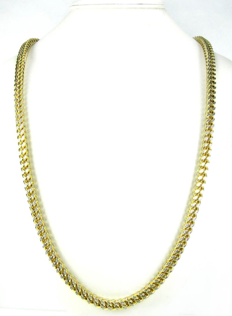 20 inch Yellow Gold Franco Chain