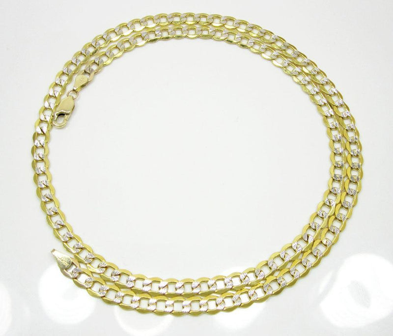 5.5MM 14K Yellow Gold Pave Cuban Chain Necklace, Chain, Jawa Jewelers, Jawa Jewelers