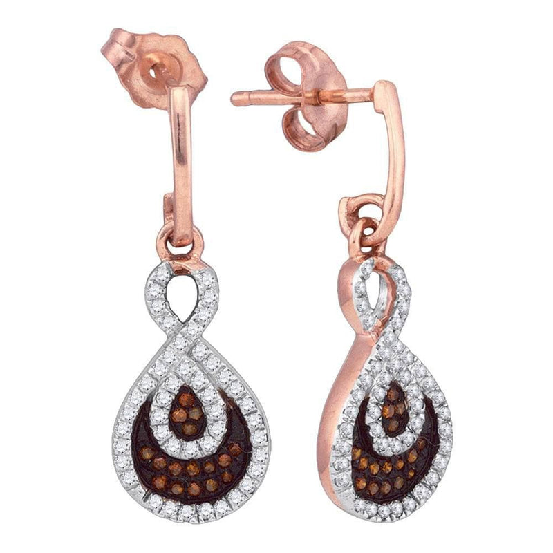Rose Gold Diamond Dangle Earrings