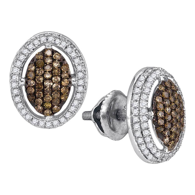 chocolate diamond drop earrings