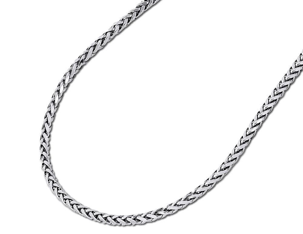 2.5MM Mens Womens 10K White Gold Palm Bracelet 7-8 Inches, Bracelets, JJ-AG, Jawa Jewelers