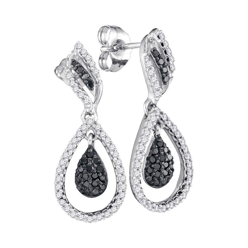 Black Diamond Teardrop Earrings
