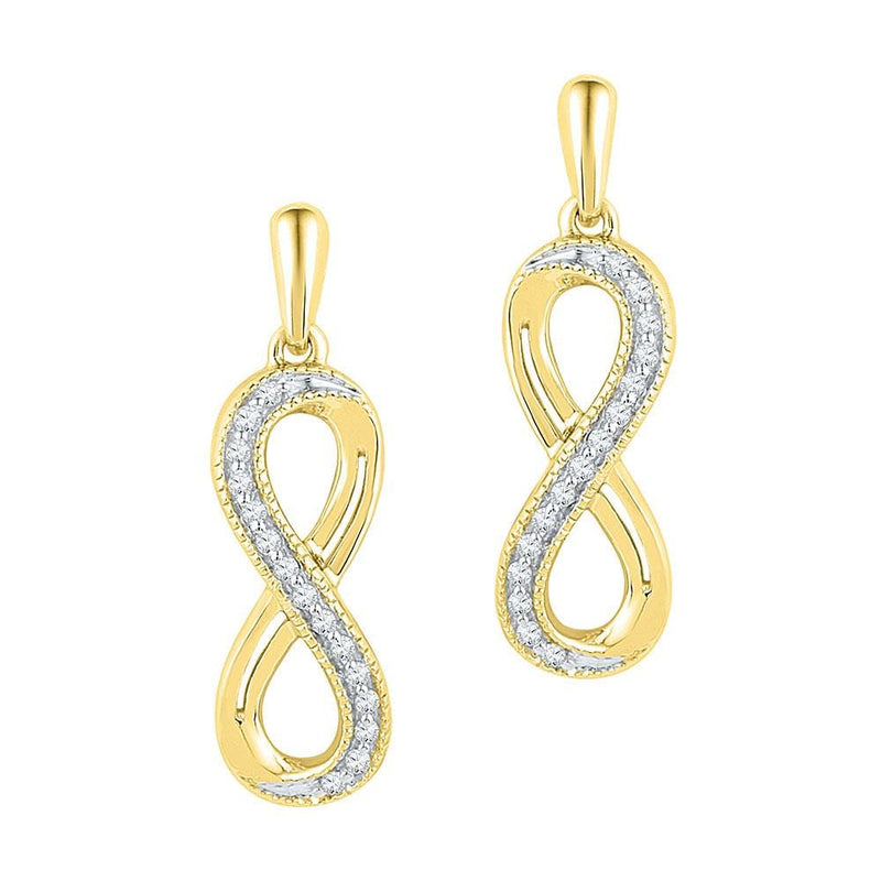 infinty earrings with diamond