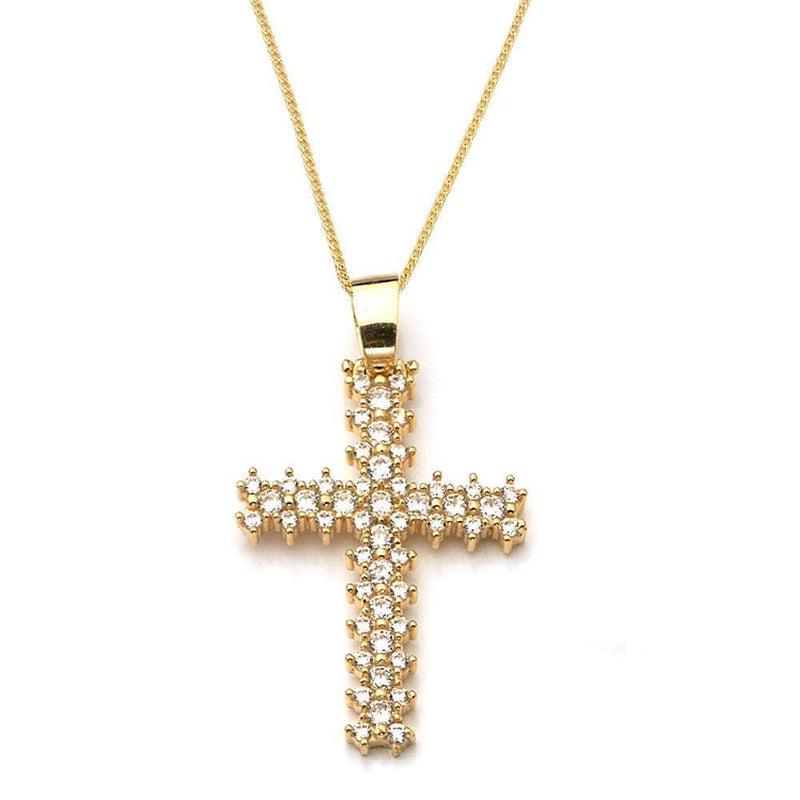 10K Yellow Gold 12.10 Grams Cross Pendant - Jawa Jewelers