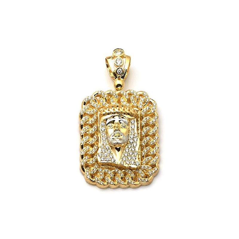 10K Yellow Gold 22.40 Grams Jesus Face Pendant, Pendants, JJ-AG, Jawa Jewelers