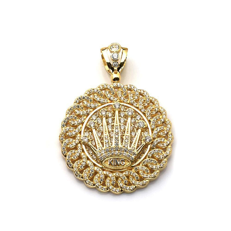 10K Yellow Gold King Fashion Pendant 31.60 Grams - Jawa Jewelers