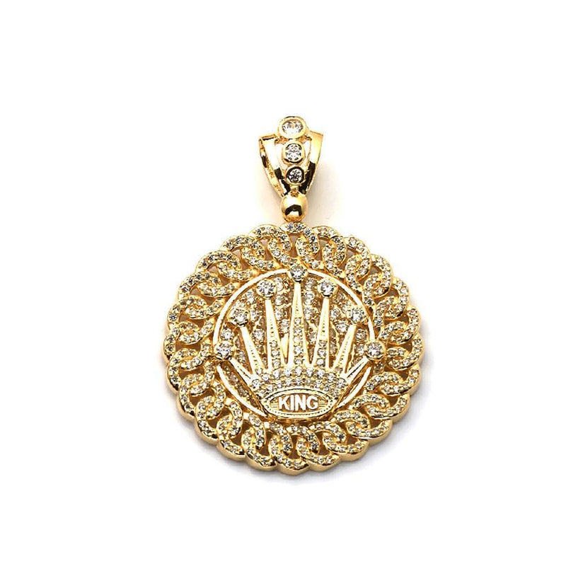 gold king crown pendant