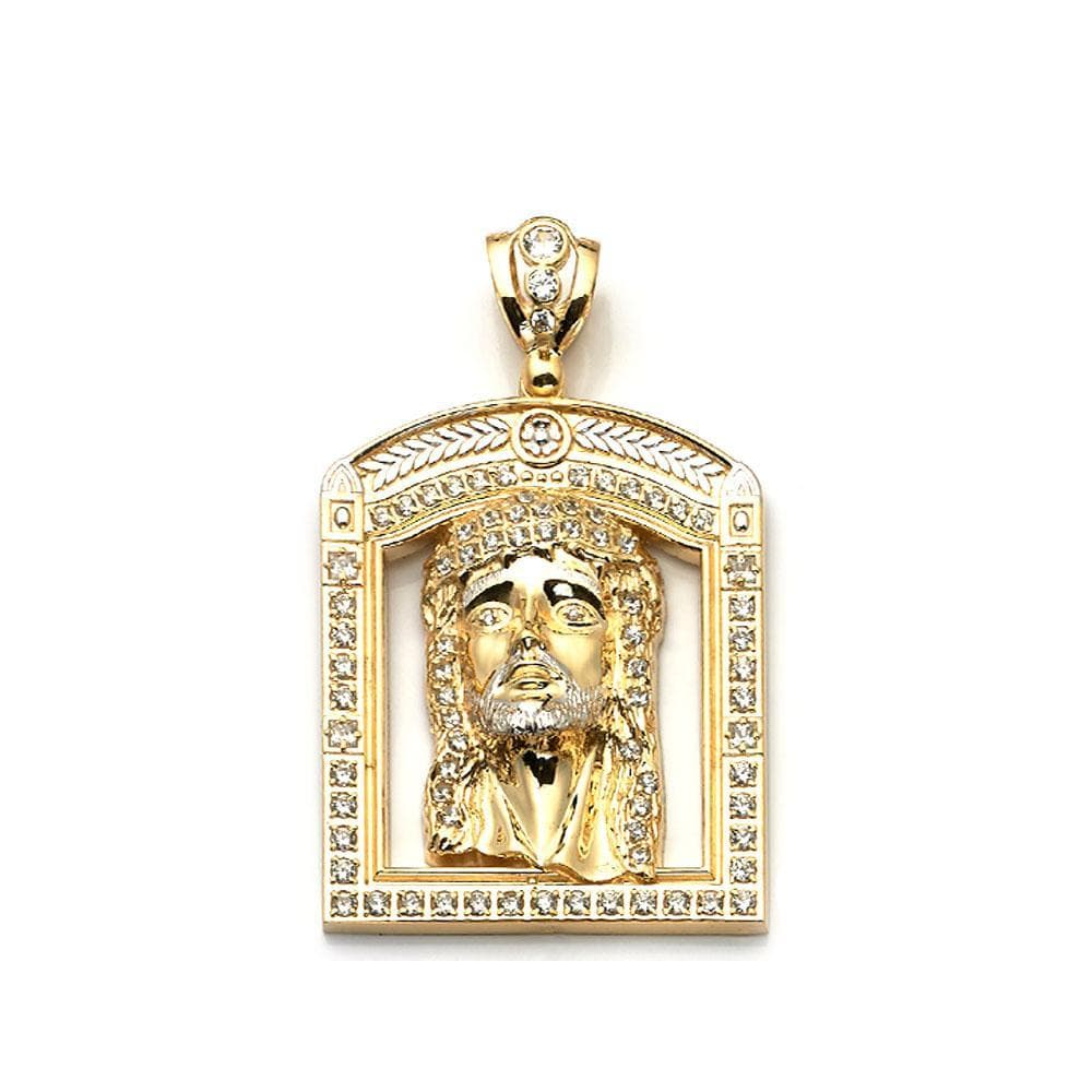 10K Yellow Gold 29.60 Grams Jesus Face Pendant - Jawa Jewelers