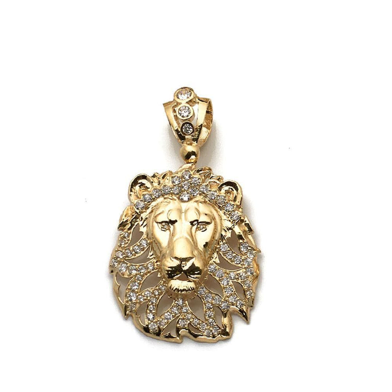 10K Yellow Gold Lion Shape Fashion Pendant 12.00 Grams - Jawa Jewelers