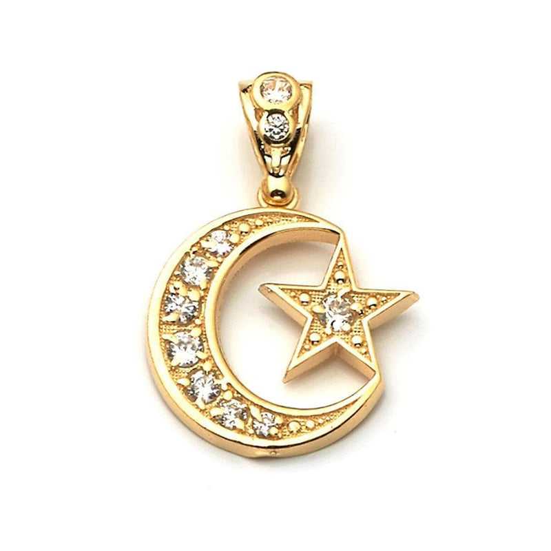 gold moon and star pendant