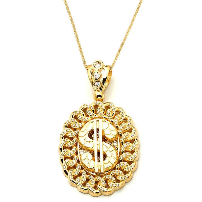 dollar sign pendant