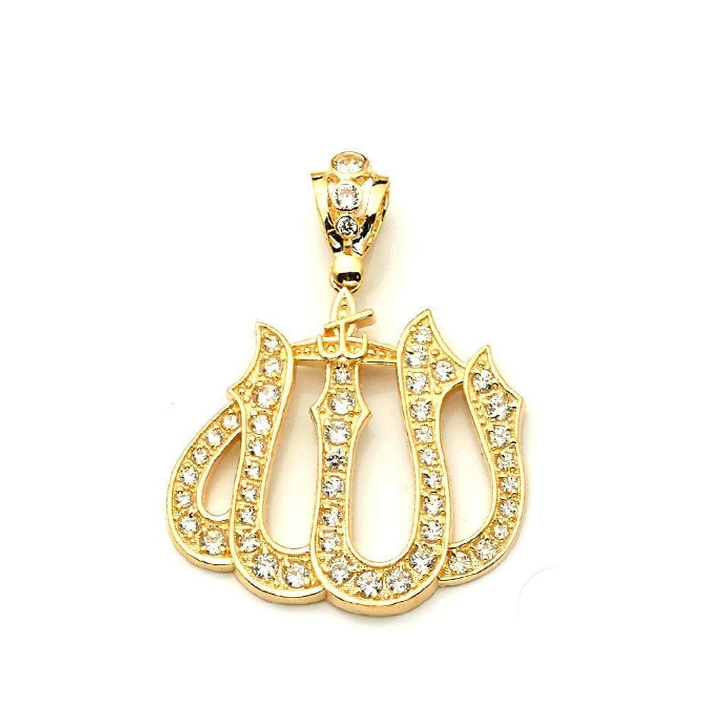 gold allah necklace