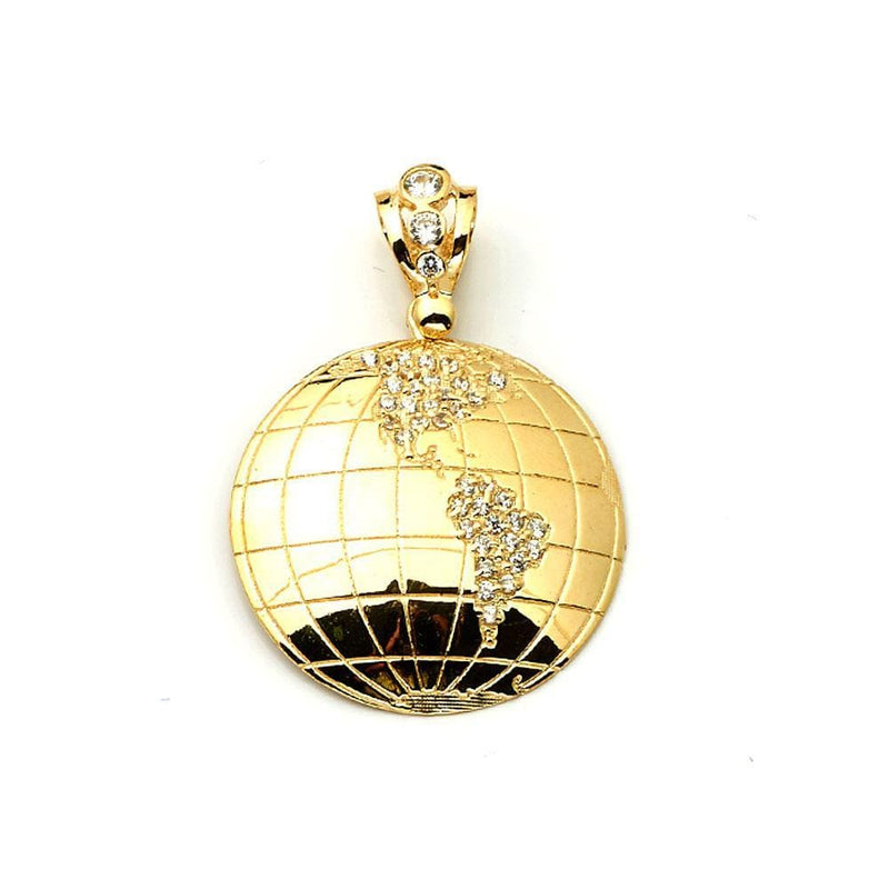 10K Yellow Gold 7.10 Grams Globe Fashion Pendant - Jawa Jewelers