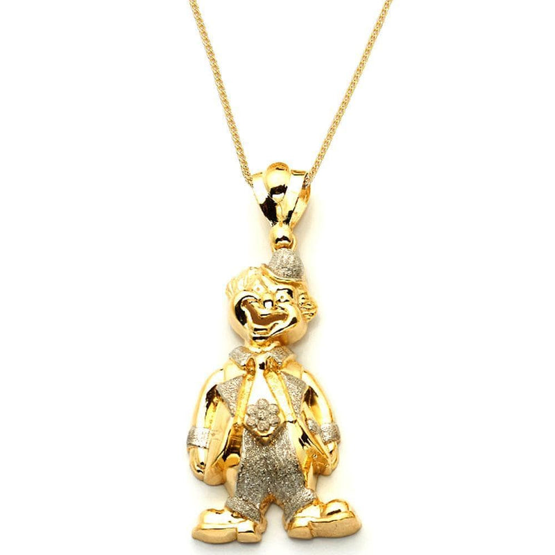 gold joker pendant