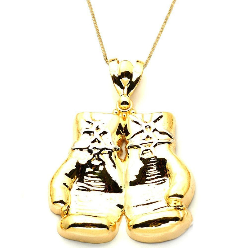 gold boxing glove pendant