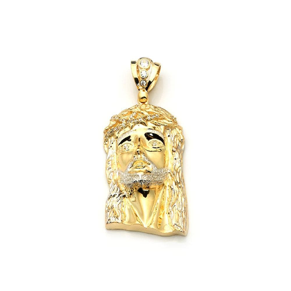 10K Yellow Gold 61.60 Grams Jesus Face Fashion Pendant, Pendants, JJ-AG, Jawa Jewelers