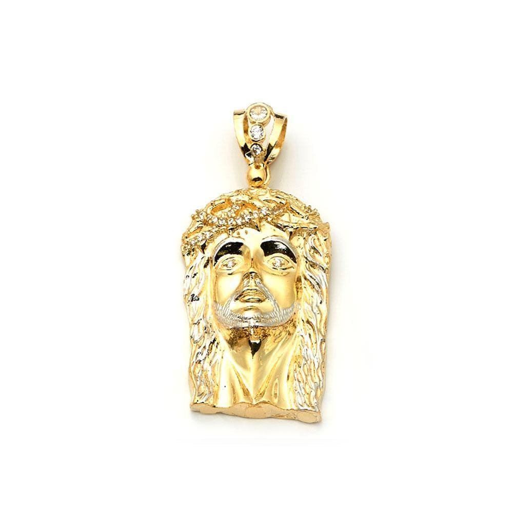 10K Yellow Gold Jesus Face Fashion Pendant 44.80 Grams - Jawa Jewelers