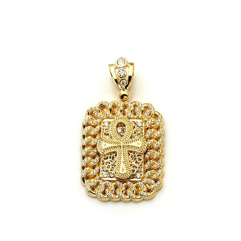 10K Yellow Gold Fashion Cross Pendant 20.20 Grams - Jawa Jewelers