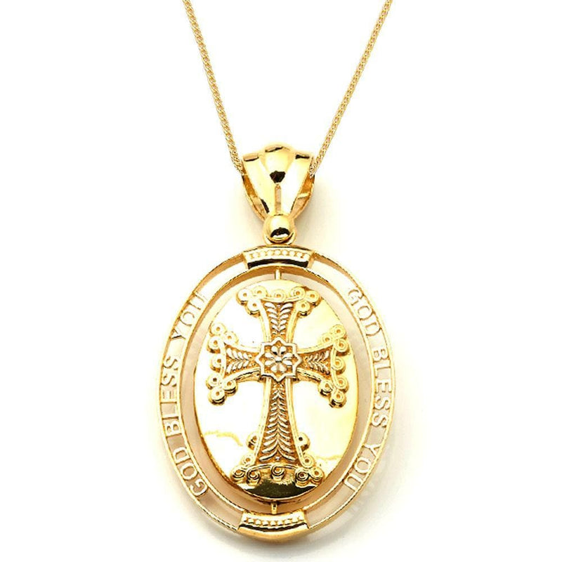 10K Yellow Gold 22.30 Grams Cross Fashion Pendant - Jawa Jewelers