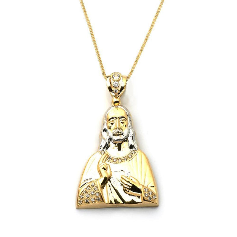 gold religious pendant necklace