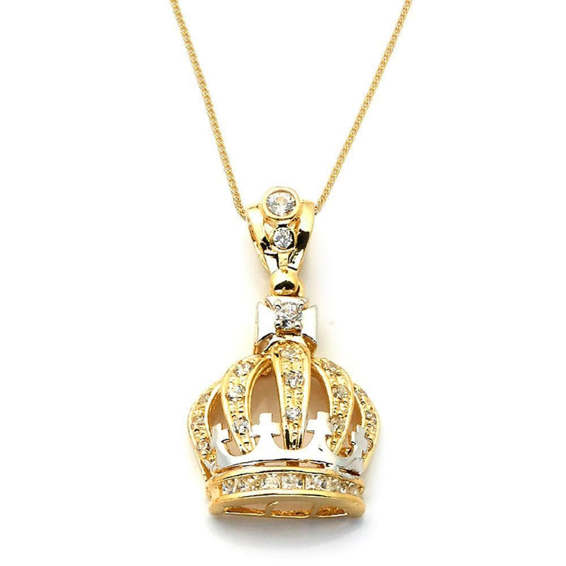 gold crown pendant necklace