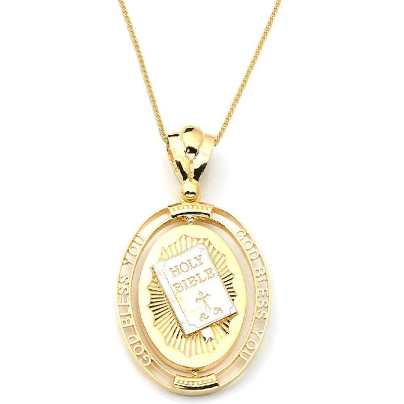gold bible pendant