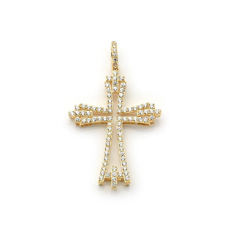 10K Yellow Gold Fashion Cross Pendant 8.00 Grams - Jawa Jewelers
