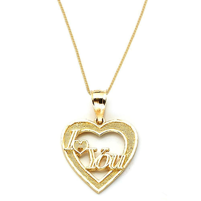 gold love heart necklaces
