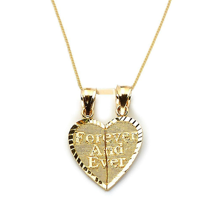 heart shape pendant in gold