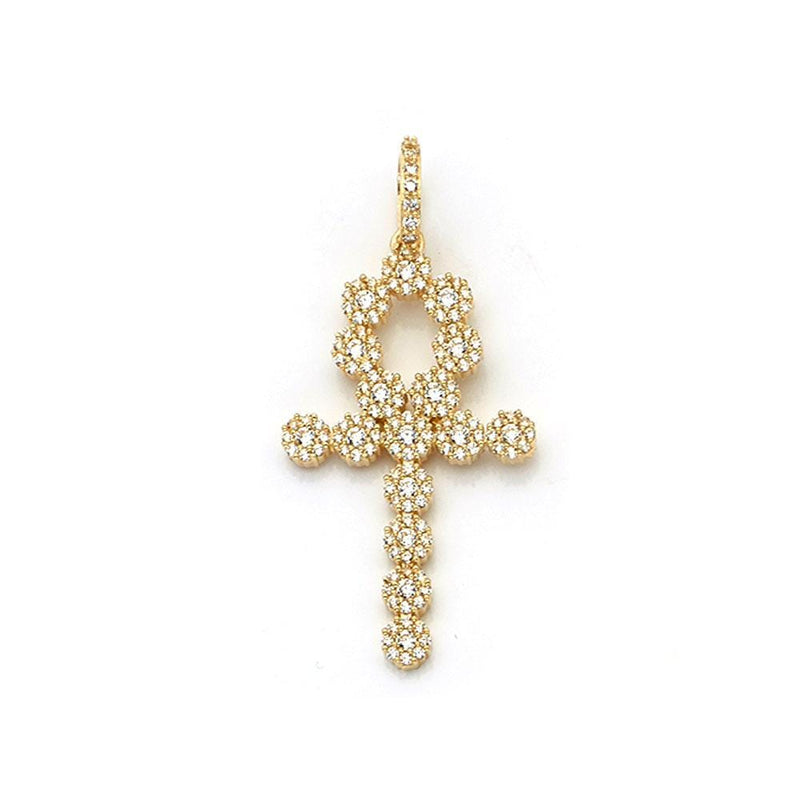10K Yellow Gold 5.20 Grams Fashion Cross Pendant - Jawa Jewelers