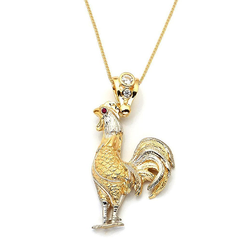 gold Rooster Pendant