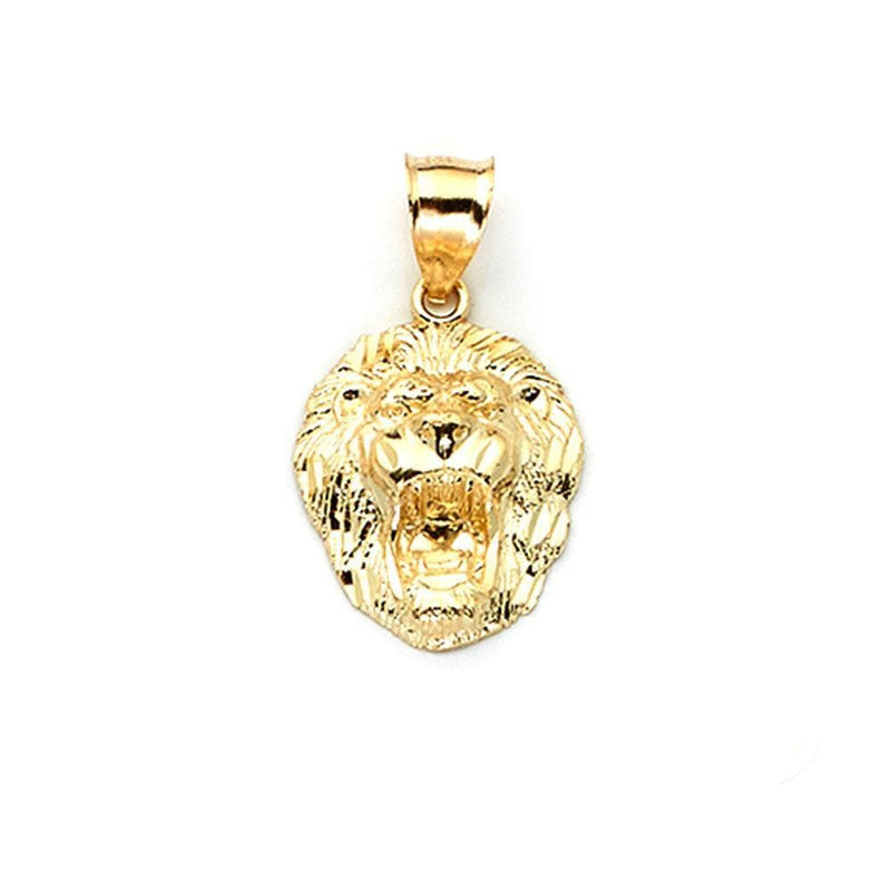 gold lion head pendant