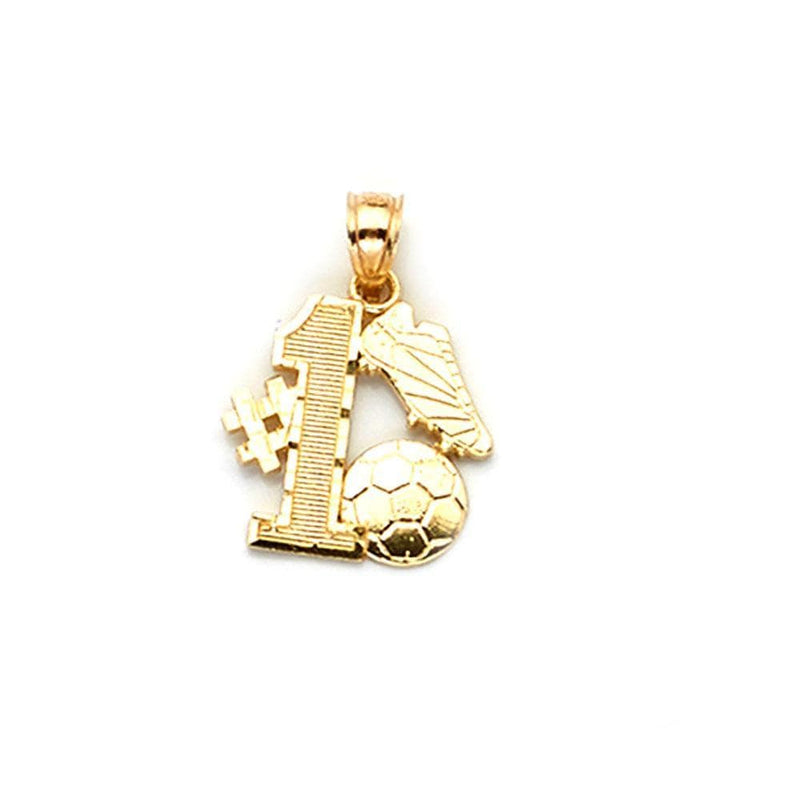 gold football pendant