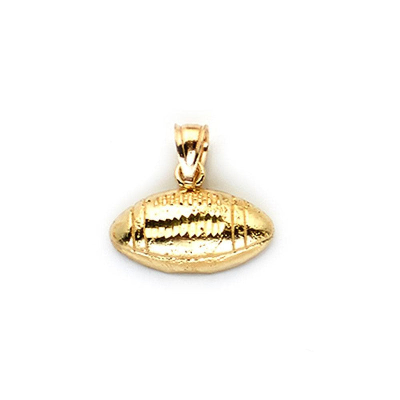 gold rugby ball pendant