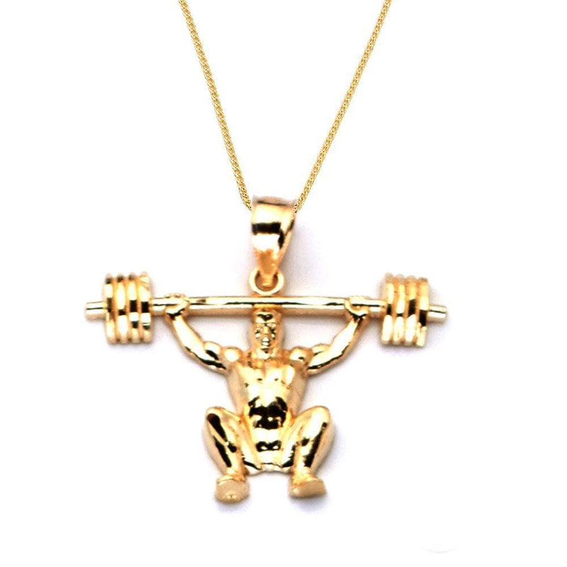 gold bodybuilder pendant