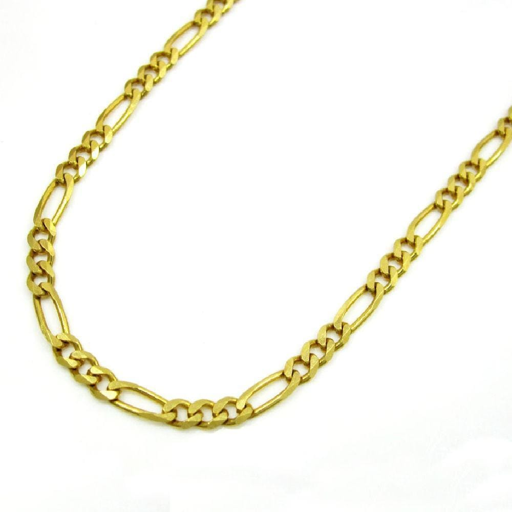 14K Yellow Gold 7.5MM Classic Figaro Chain & Bracelet, Chain, JJ-AG, Jawa Jewelers