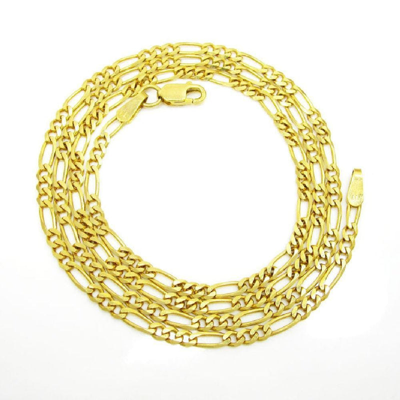 14K Yellow Gold 1.25MM Classic Figaro Chain & Bracelet, Chain, JJ-AG, Jawa Jewelers