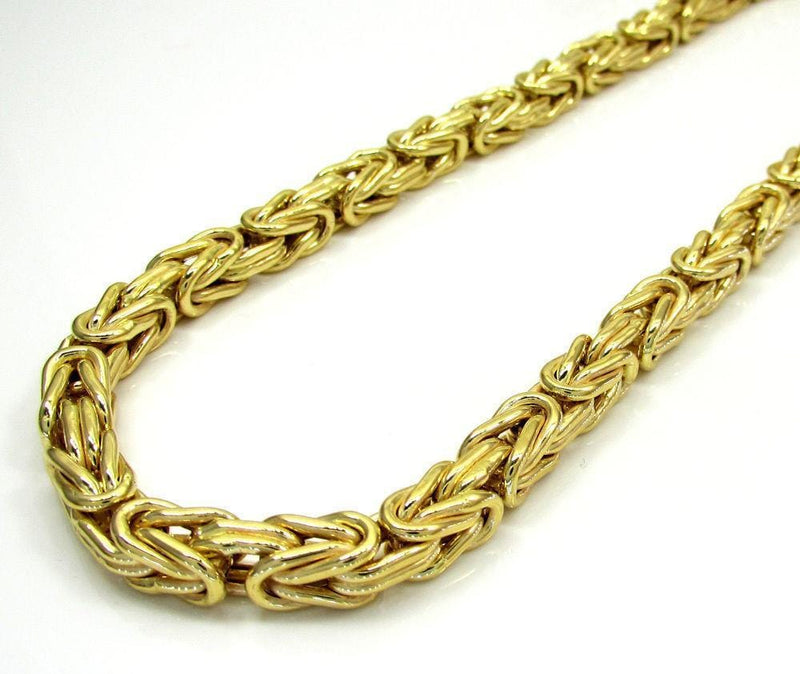 14K Yellow Gold Men's 2.5MM Solid Byzantine Chains & Bracelet, Chain, JJ-AG, Jawa Jewelers