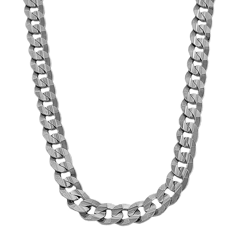 10K White Gold Men's 5MM Miami Cuban Chains & Bracelet