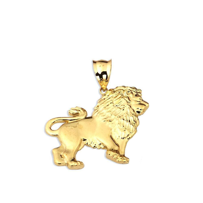 10K Yellow Gold Lion Charm Pendent 7.10 Grams