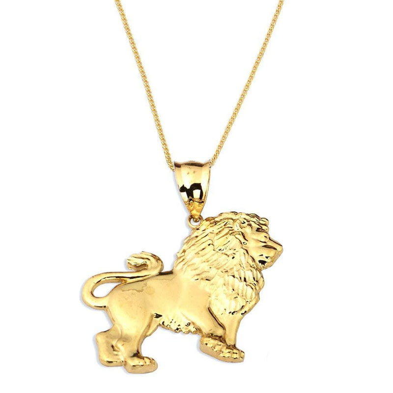 gold lion pendant necklace