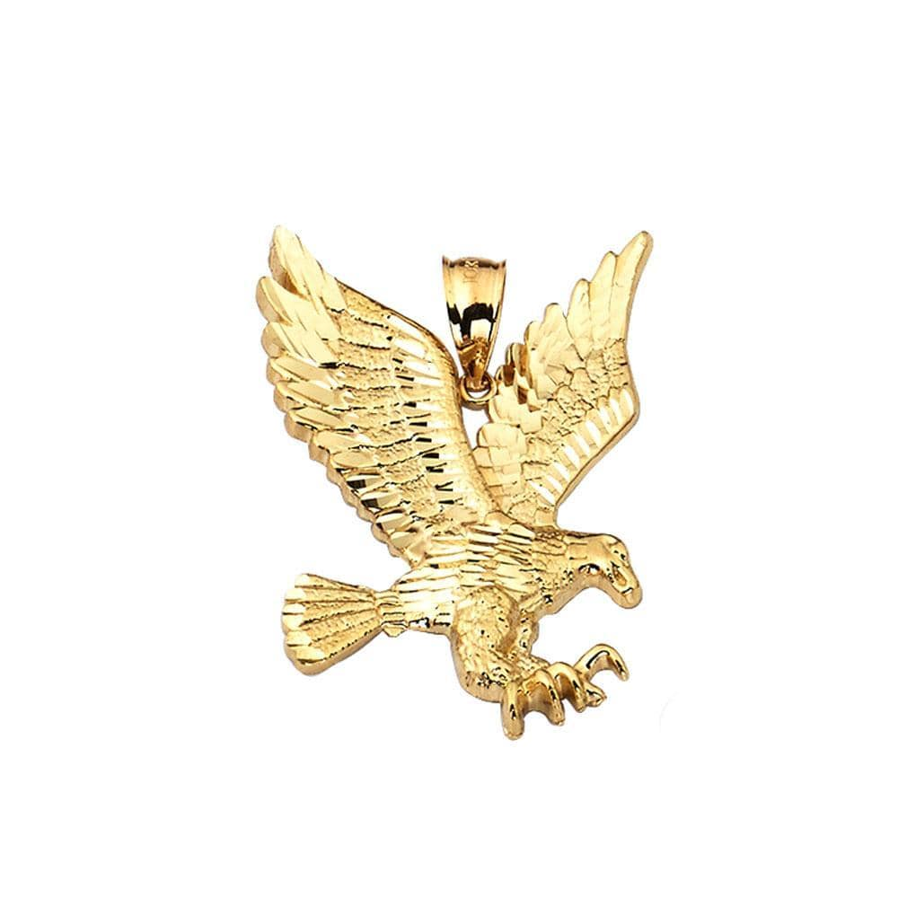 10K Yellow Gold  3.60 Grams Golden Eagle Fashion Pendent, Pendants, JJ-AG, Jawa Jewelers