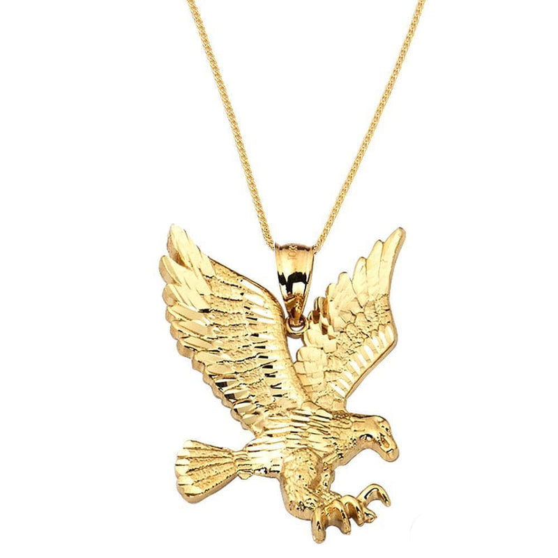 10K Yellow Gold  3.60 Grams Golden Eagle Fashion Pendent - Jawa Jewelers